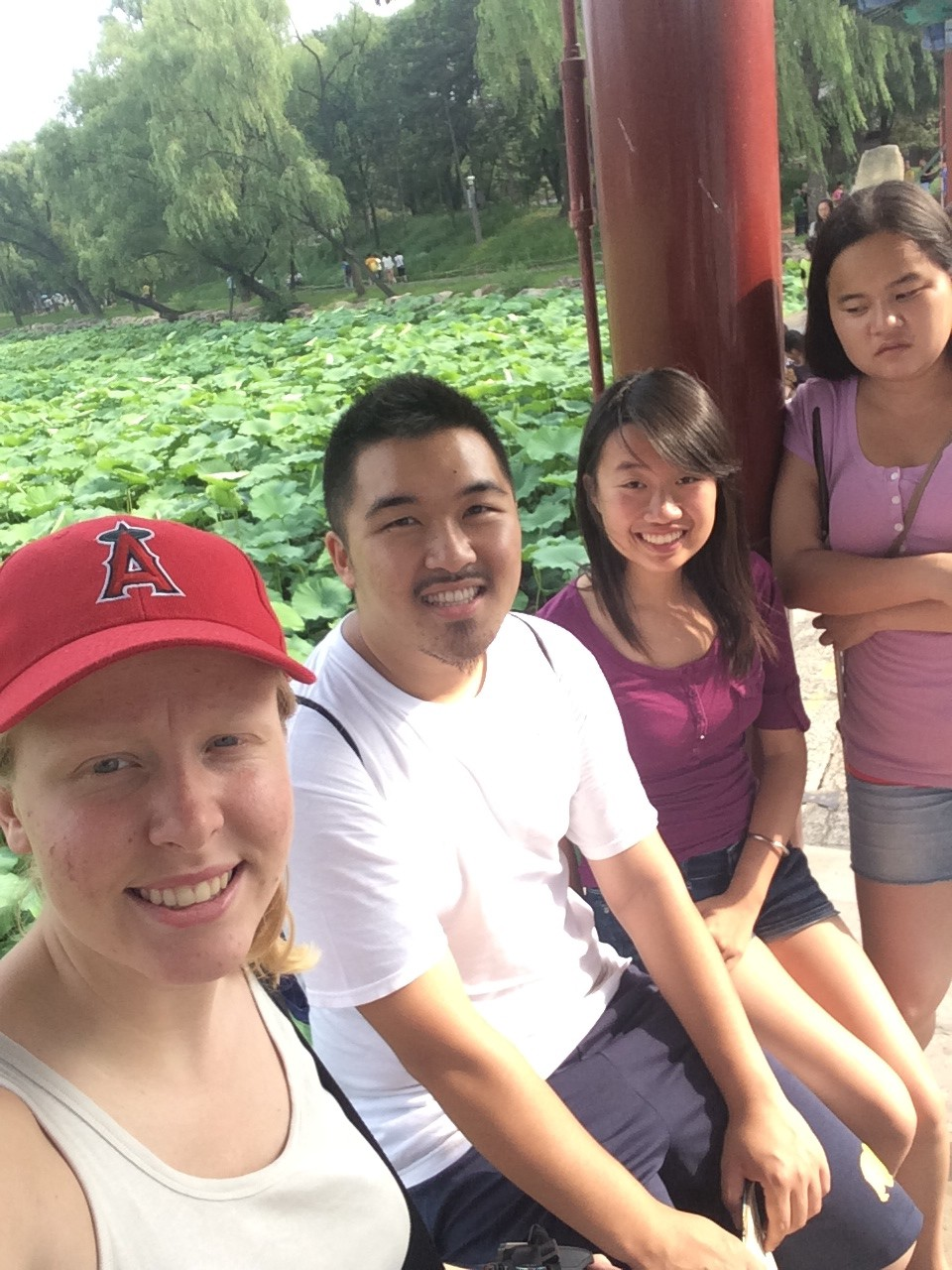 Ruby, Bill, Lotus, and Hannah on a field trip in Beijing
